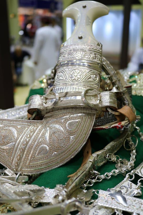 Daga árabe de plata fotos de archivo libres de regalías