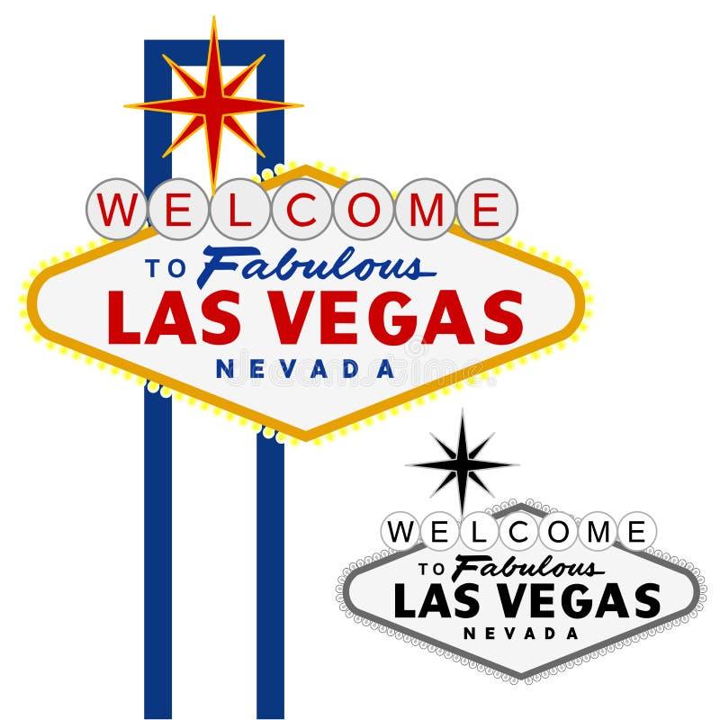 dagar Las Vegas royaltyfri illustrationer