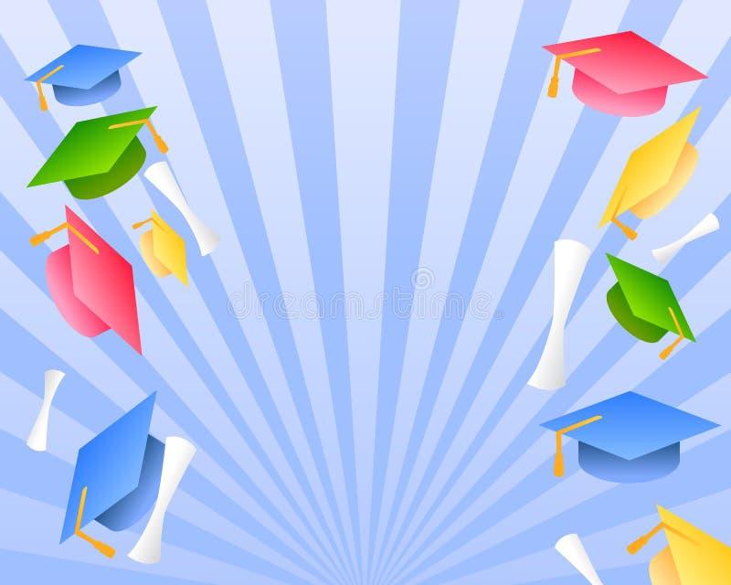 dagavläggande av examenhälsningar royaltyfri illustrationer