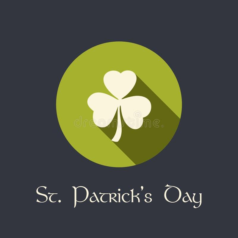 Download Dagbakgrund För St. Patricks Med Växt Av Släktet Trifolium Vektor Illustrationer - Illustration av klassiskt, gåva: 37349539