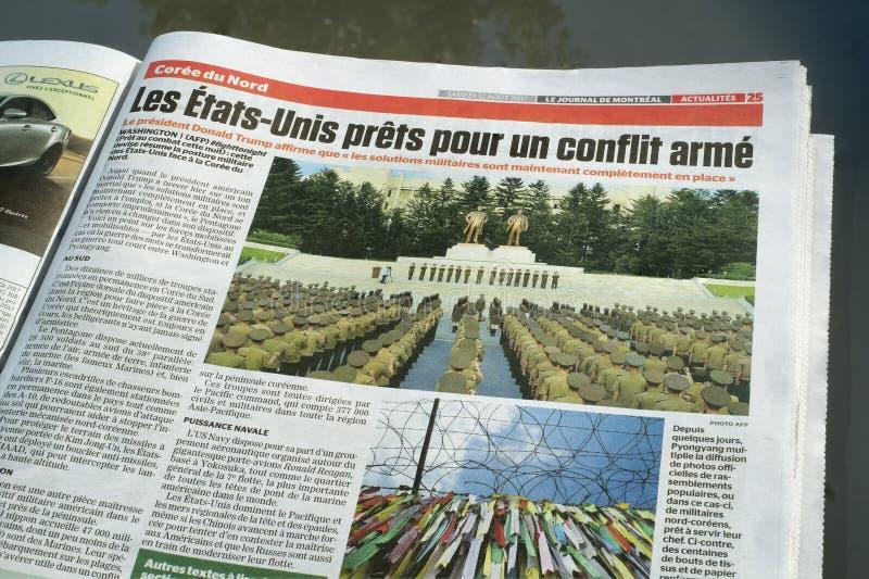Dagboekde Montreal Krant royalty-vrije stock afbeeldingen