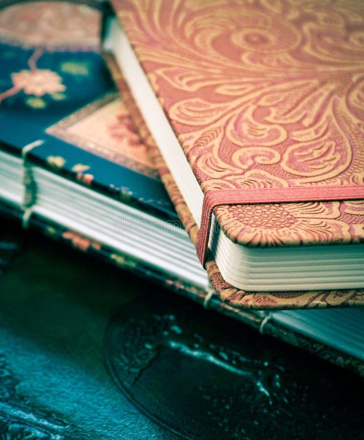 dagboeken stock fotografie