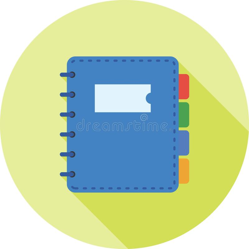 dagbok vektor illustrationer