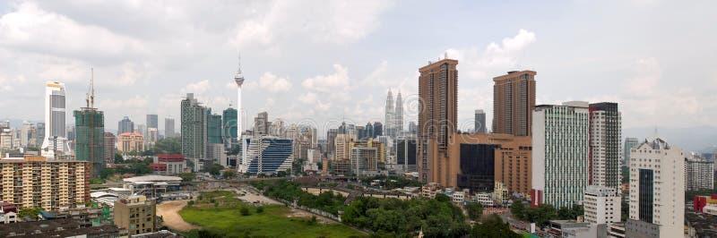 DagCityscape van Kuala Lumpur Panorama royalty-vrije stock afbeeldingen