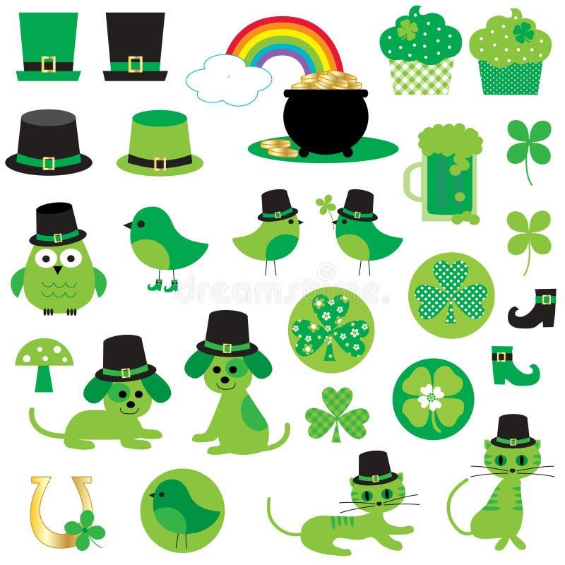 Dagclipart för St Patricks stock illustrationer
