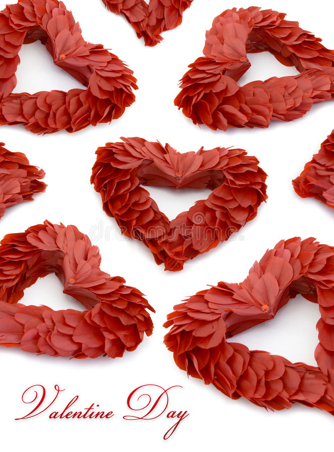 dagdekoren befjädrar valentinen för hjärta s royaltyfria foton