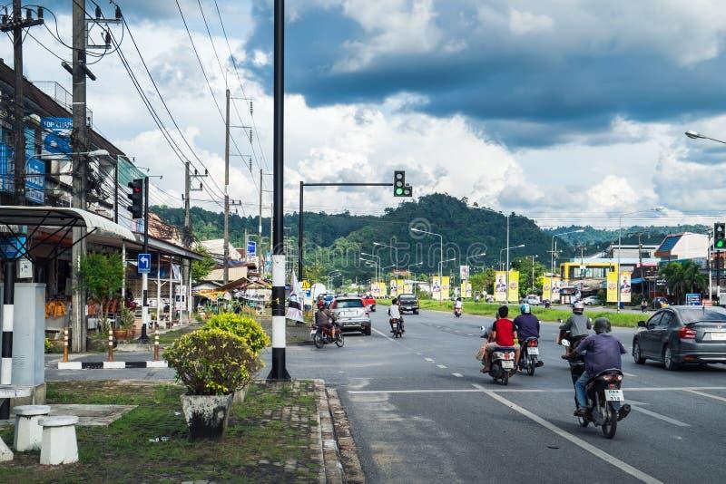 Dagelijks straatleven in de provincies van Thailand royalty-vrije stock afbeelding