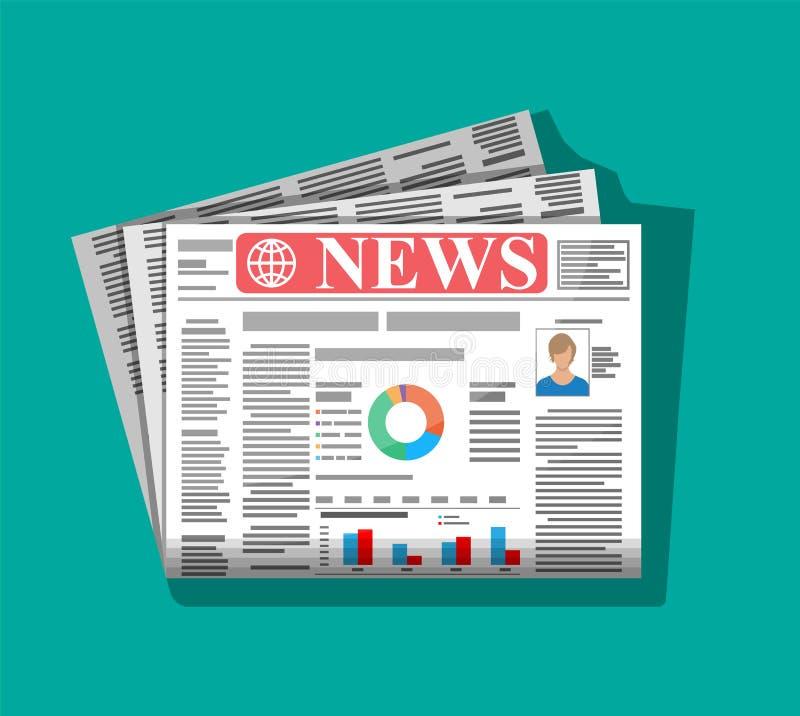 Dagelijkse krant in kleur royalty-vrije illustratie
