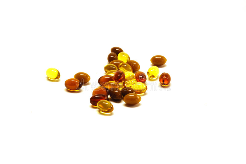 Dagelijkse Vitaminen stock foto's