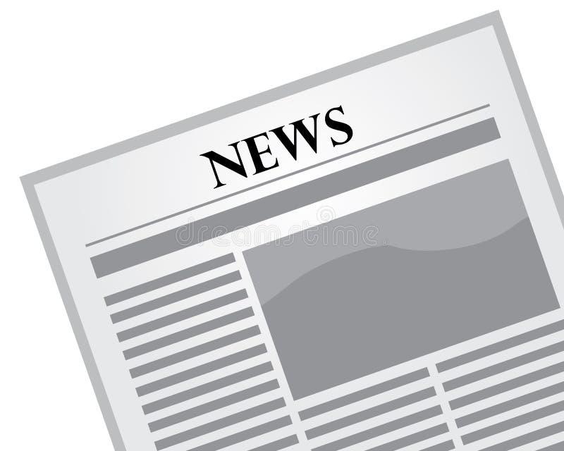Dagelijkse vlakke krant stock illustratie