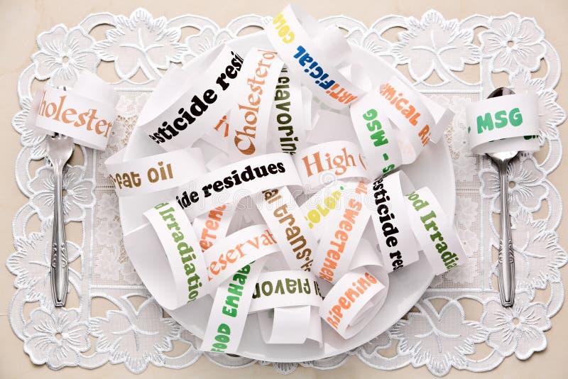 Dagelijkse voedselingrediënten die de meeste mensen eten royalty-vrije stock foto's
