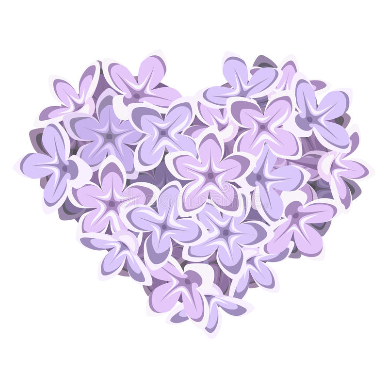 dagen blommar valentinen för temat för hjärtaillustration den lila s också vektor för coreldrawillustration stock illustrationer