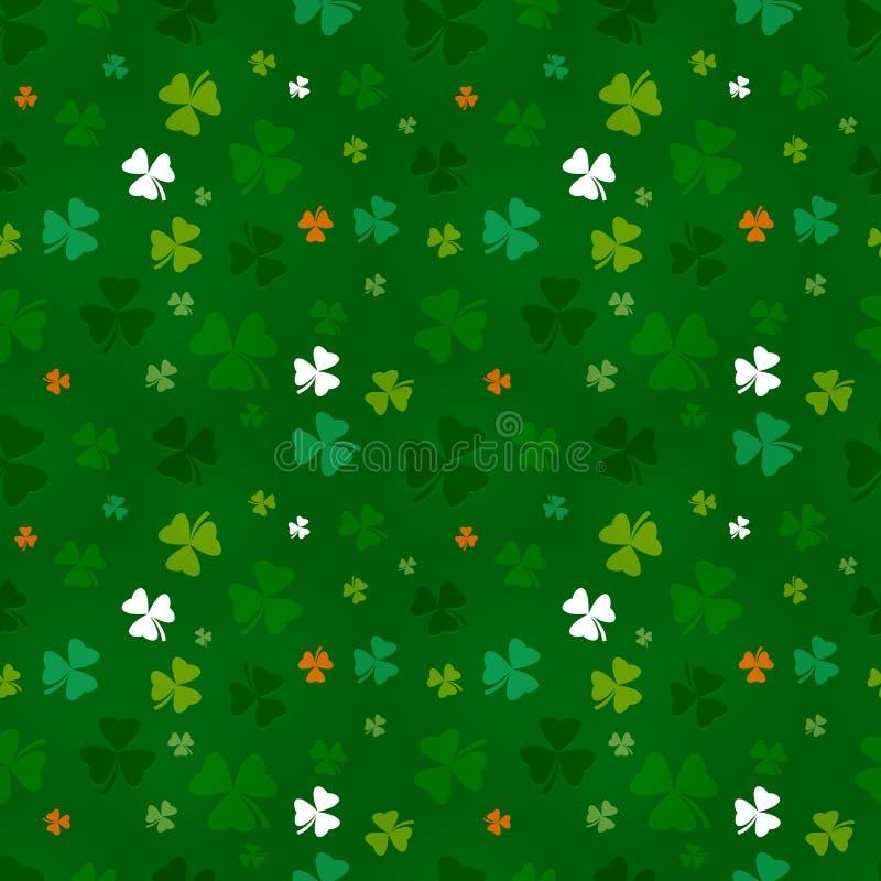 Dagen för St. Patricks mönstrar vektor illustrationer