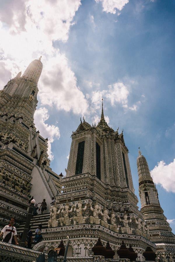 Dagen i bangkok, Thailand, Wat Arun Temple arkivfoto