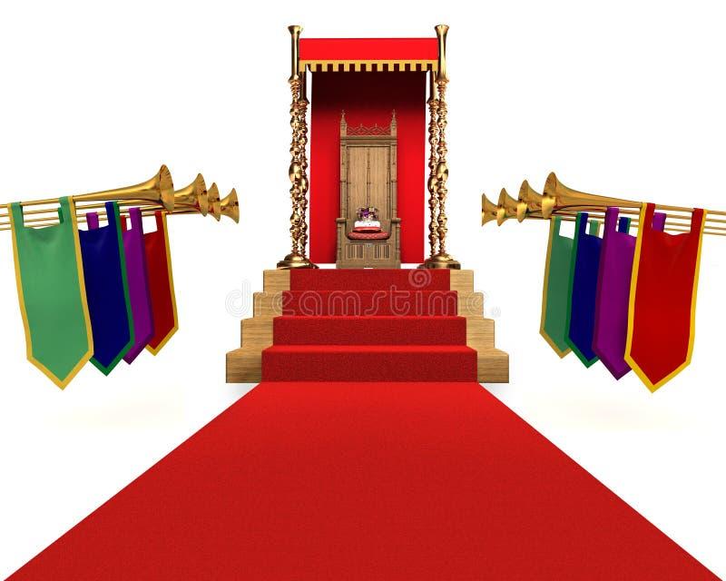 dagen kingqueen royaltyfri illustrationer