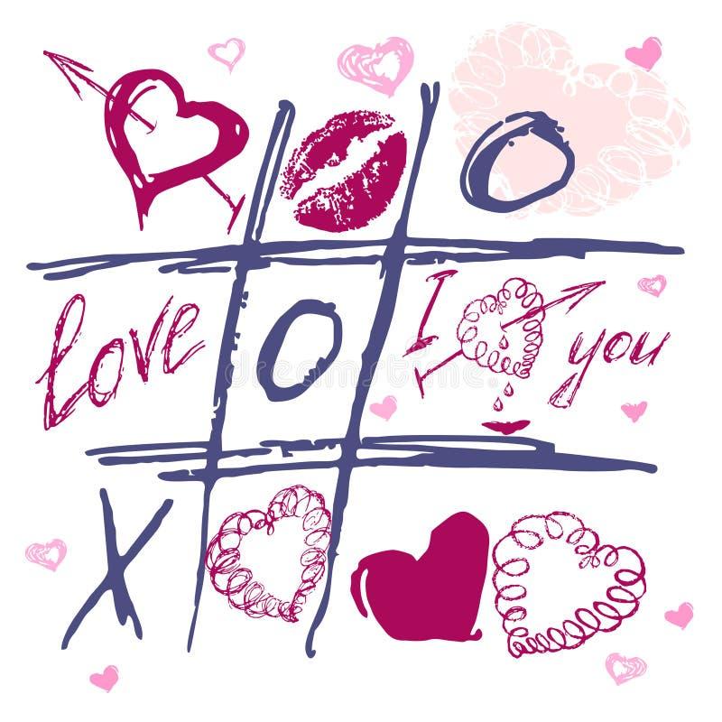 dagen tecknade handhjärtasymboler älskar s-valentinen vektor illustrationer