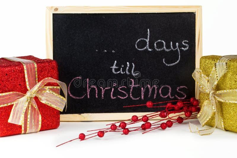 ? dagen tot Kerstmis royalty-vrije stock foto