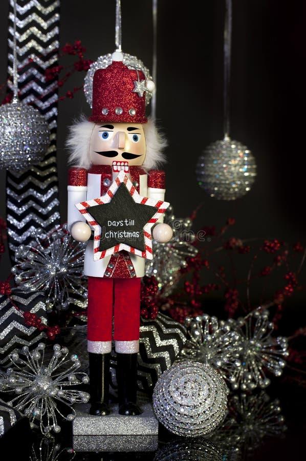 Dagen tot Kerstmisnotekraker stock fotografie