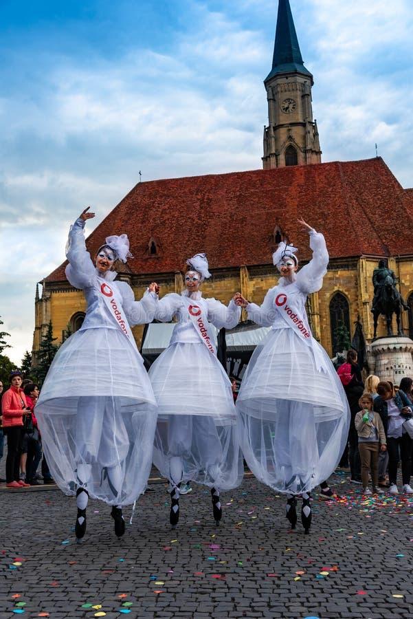 Dagen van Cluj viering in openlucht stock foto's