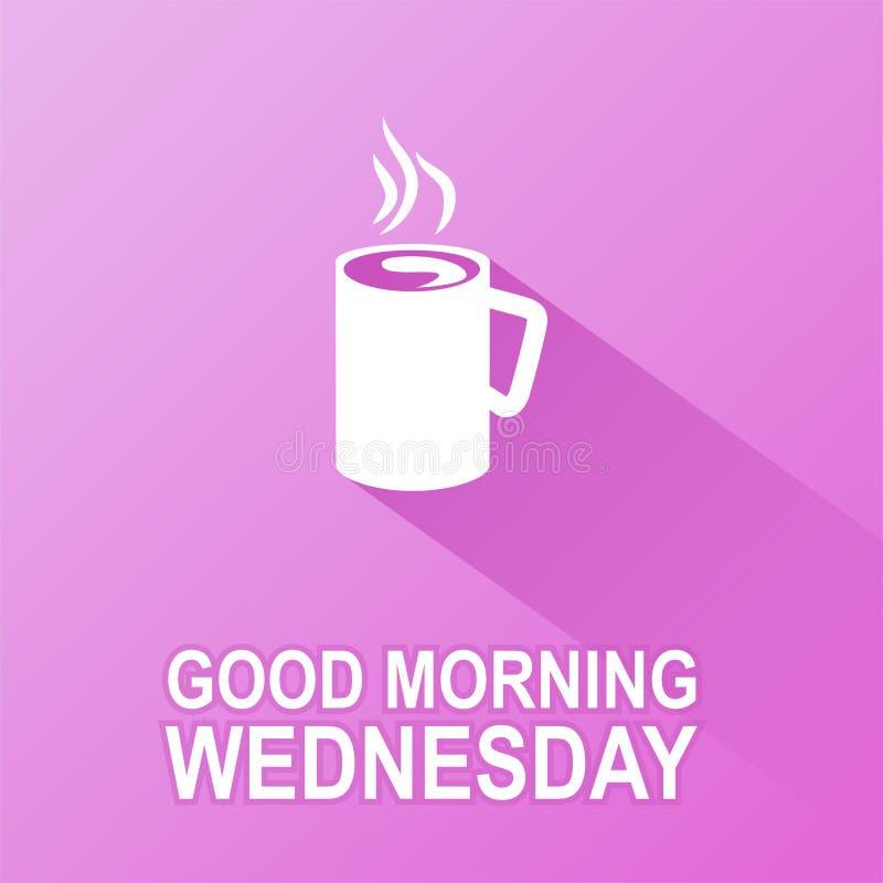 Dagen van de week Woensdag stock illustratie
