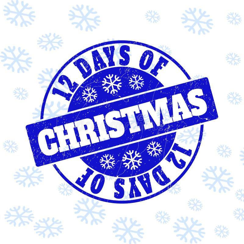 12 dagen van Kerstmis om Zegelverbinding voor Kerstmis worden gekrast die stock illustratie