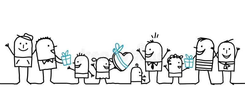 dagfader lyckligt s vektor illustrationer