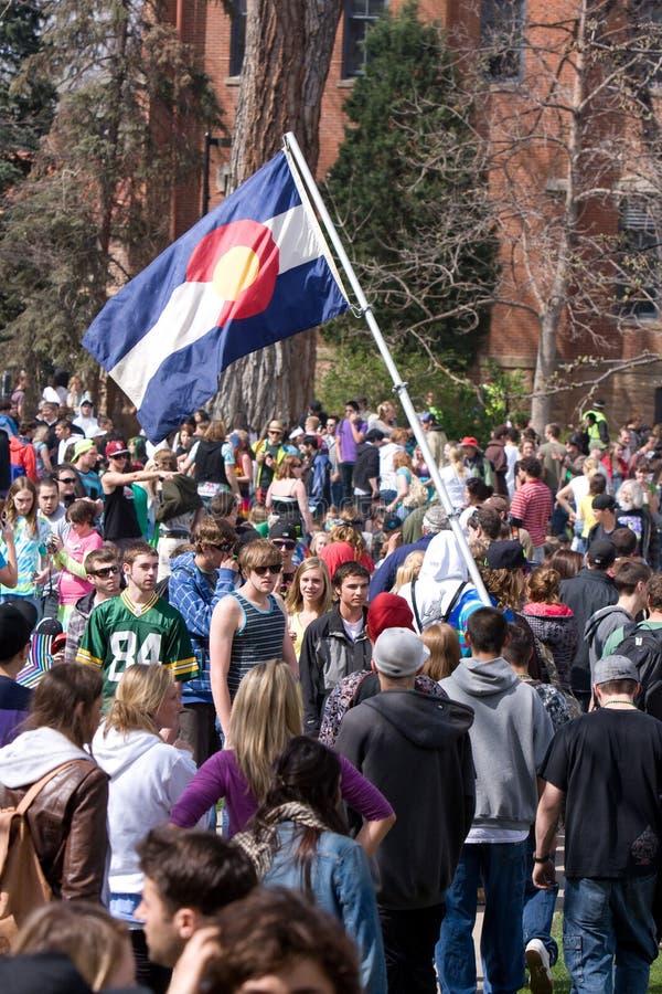 dagflagga för 420 colorado royaltyfri foto