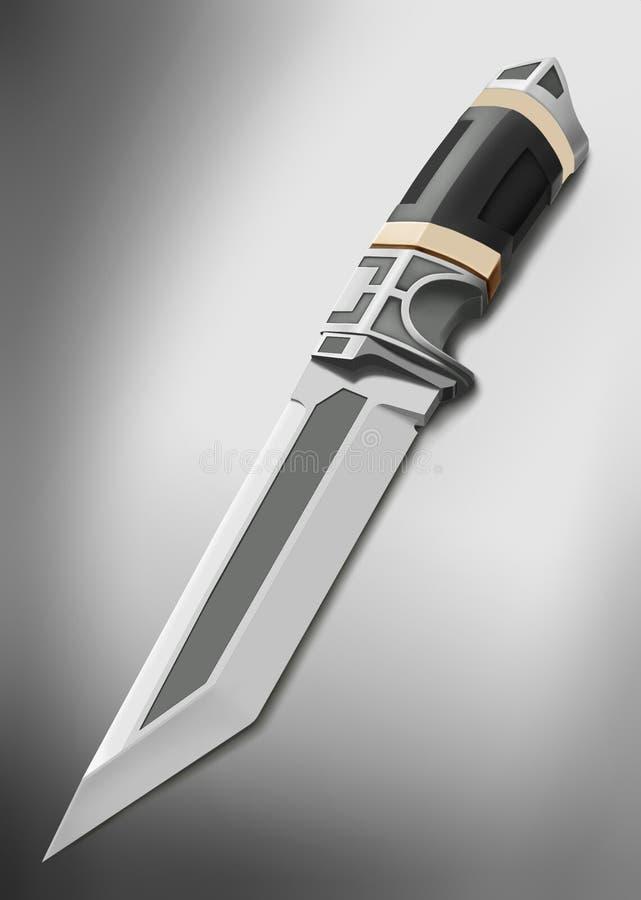 Dagger Eldar com um fundo traseiro ilustração royalty free
