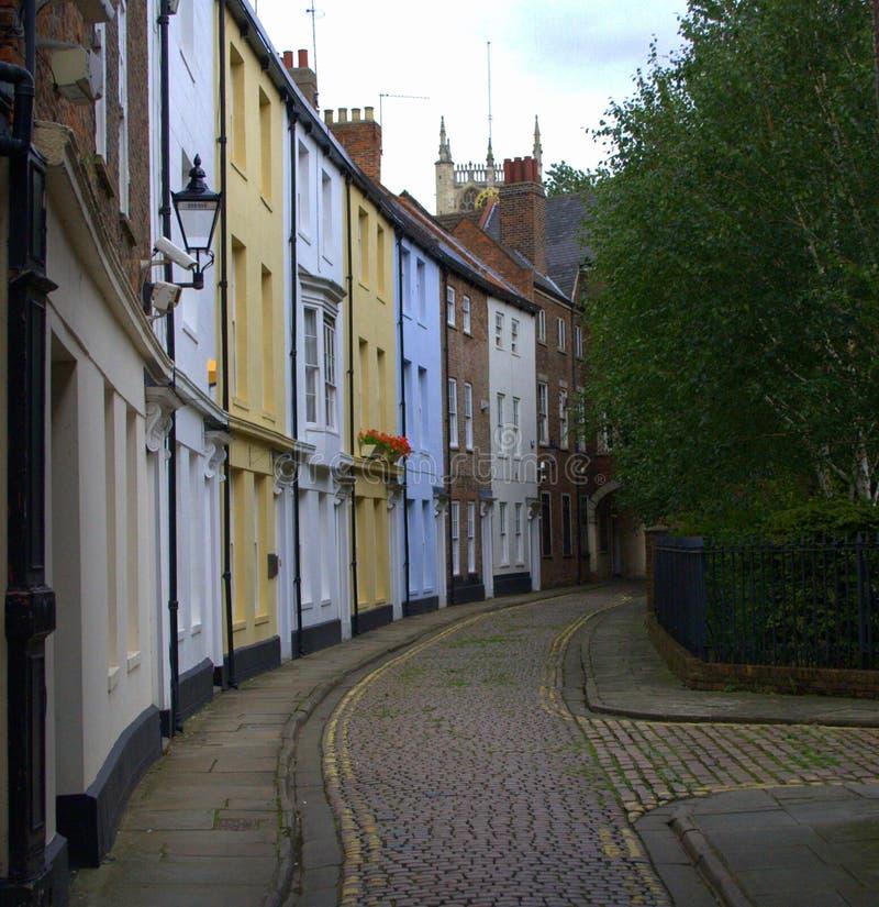 Dagger Lane Cobbled Street royalty-vrije stock foto's