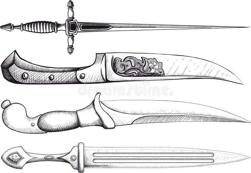 Dagger Set ilustração stock