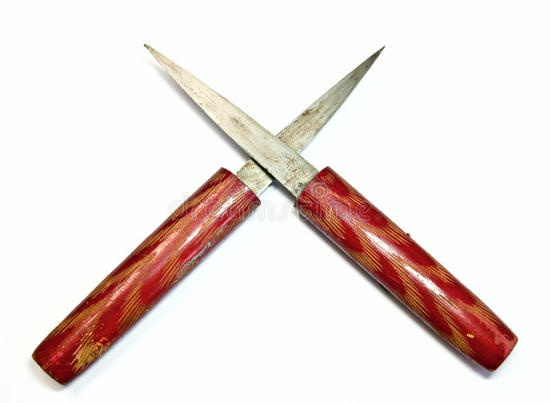 Daggers. The two daggers put together stock photography