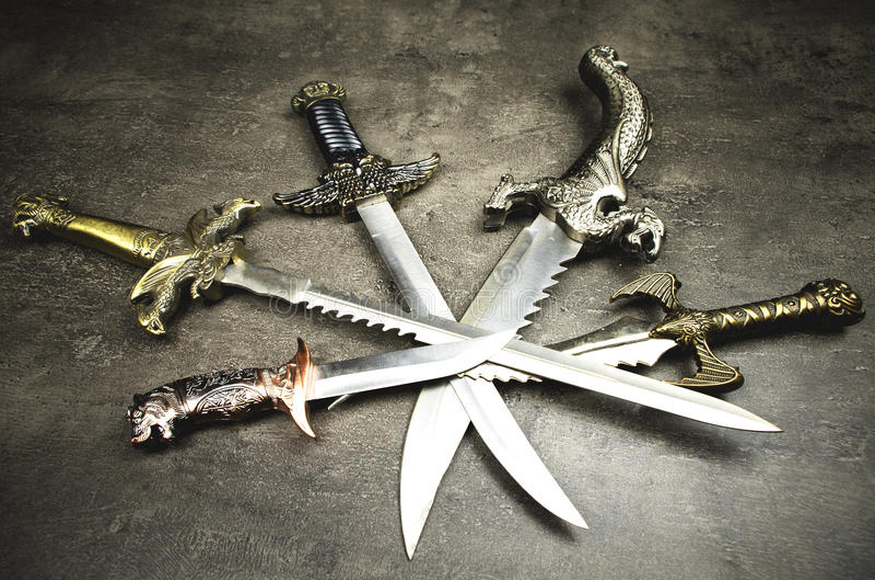daggers royalty-vrije stock foto