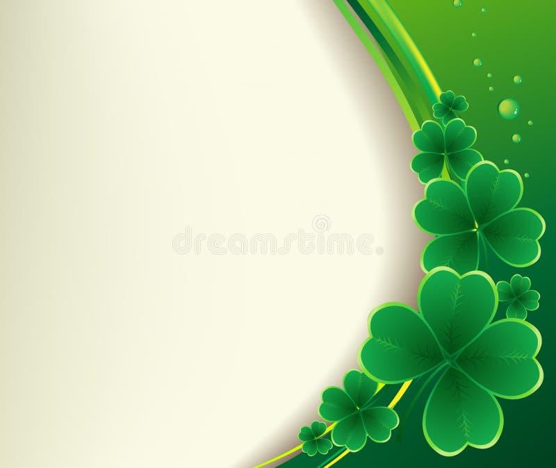 Daghälsning för St Patricks stock illustrationer