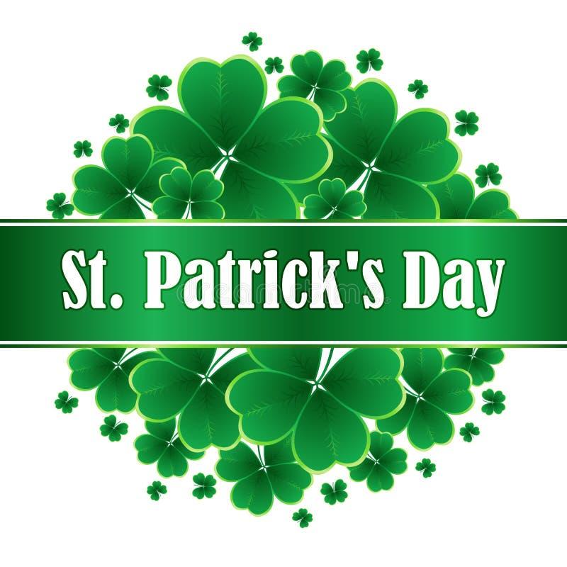 Daghälsning för St Patricks royaltyfri illustrationer