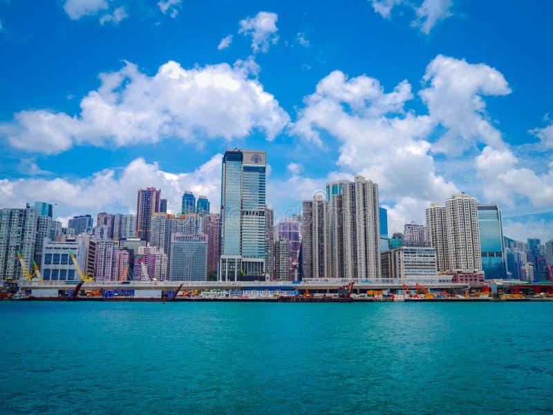 Daghong kong skyline stock fotografie