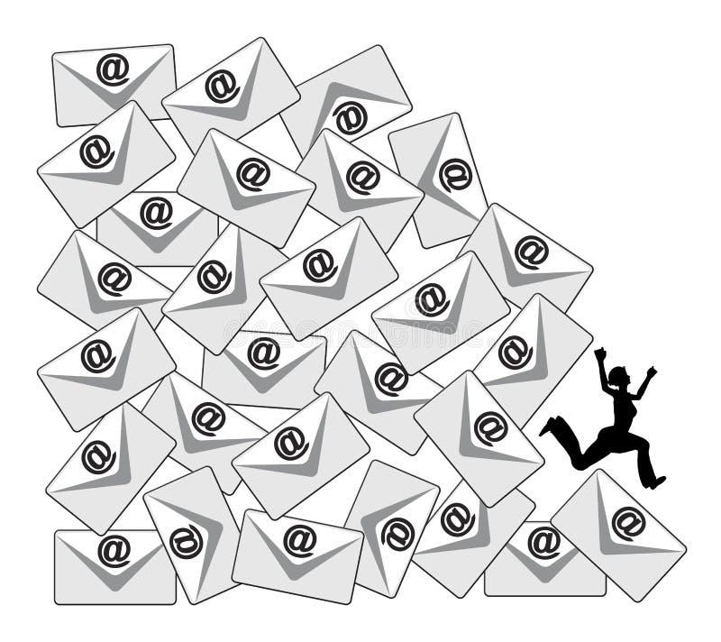 Daglig Emailpåfyllning royaltyfri illustrationer