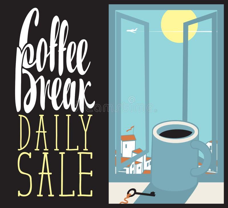 Daglig kaffekopp vektor illustrationer