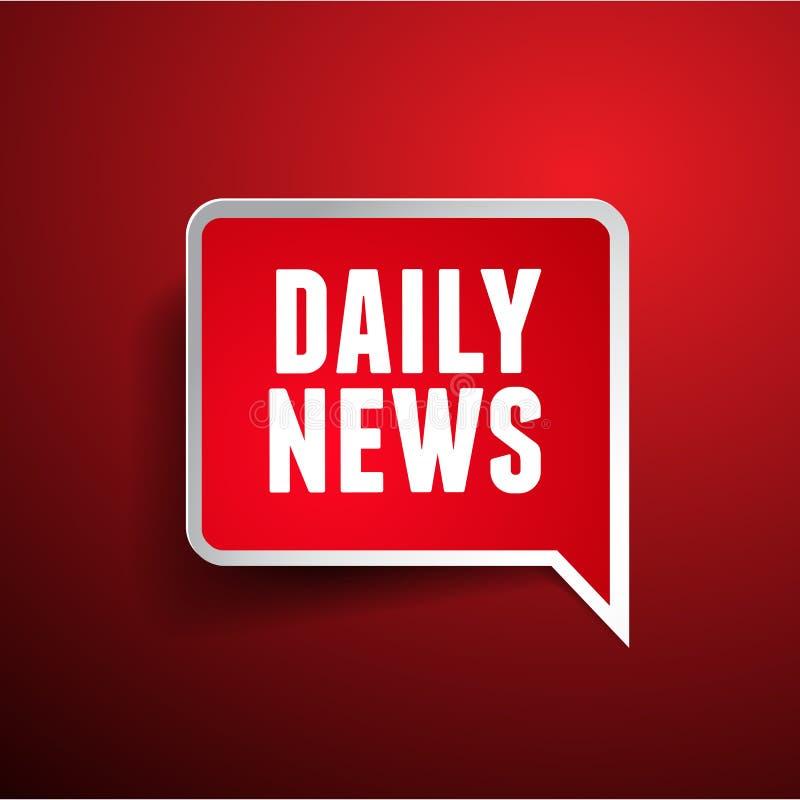 Daglig nyheternaetikett royaltyfri illustrationer