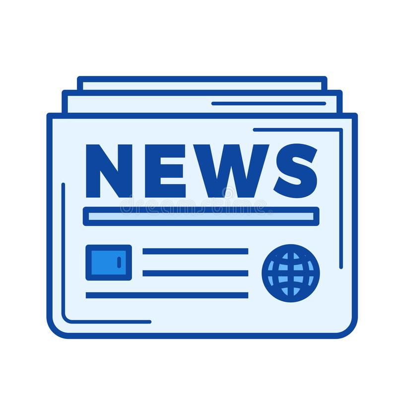Daglig nyheternalinje symbol royaltyfri illustrationer
