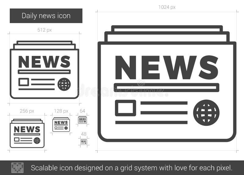 Daglig nyheternalinje symbol vektor illustrationer