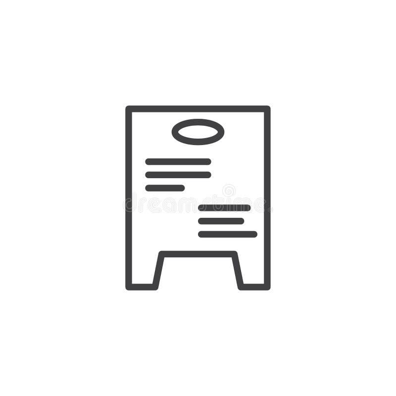 Daglig special brädelinje symbol vektor illustrationer