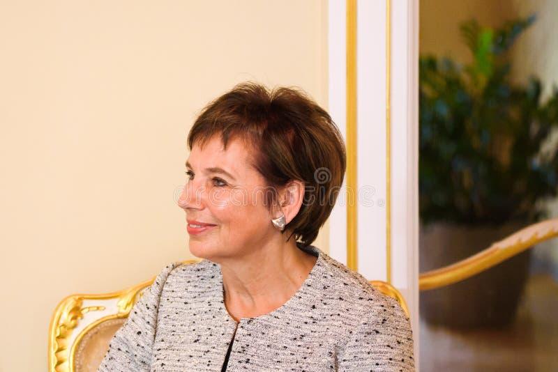 Dagmara beitnere-LE Galla, αναπληρωτής ομιλητής του Κοινοβουλίου Saeima της Λετονίας στοκ εικόνες
