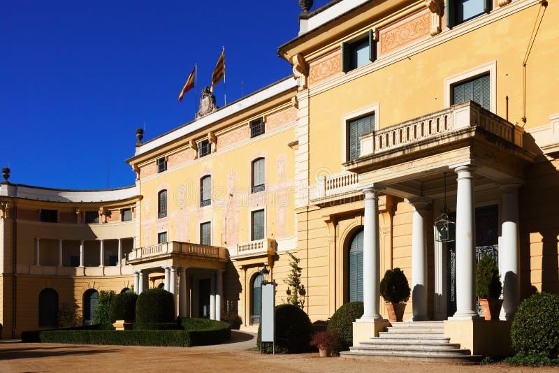 Dagmening van Pedralbes Royal Palace royalty-vrije stock afbeelding