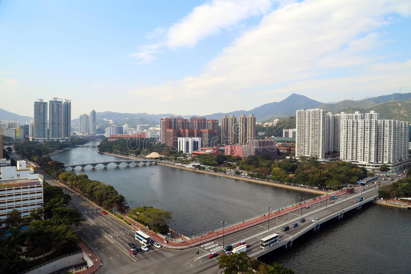 Dagmening van Shing Mun River stock fotografie