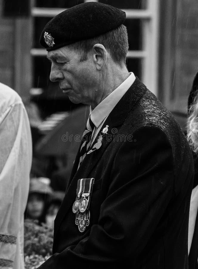 dagminne skipton förenat kungarike 11 11 2018 royaltyfria bilder