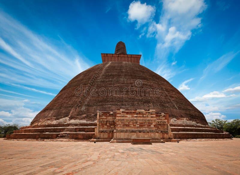Dagoba de Jetavaranama. Anuradhapura, Sri Lanka fotos de archivo libres de regalías