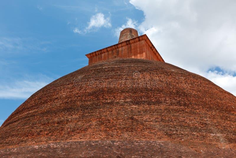 Dagoba de Jetavaranama (stupa), Sri Lanka foto de archivo