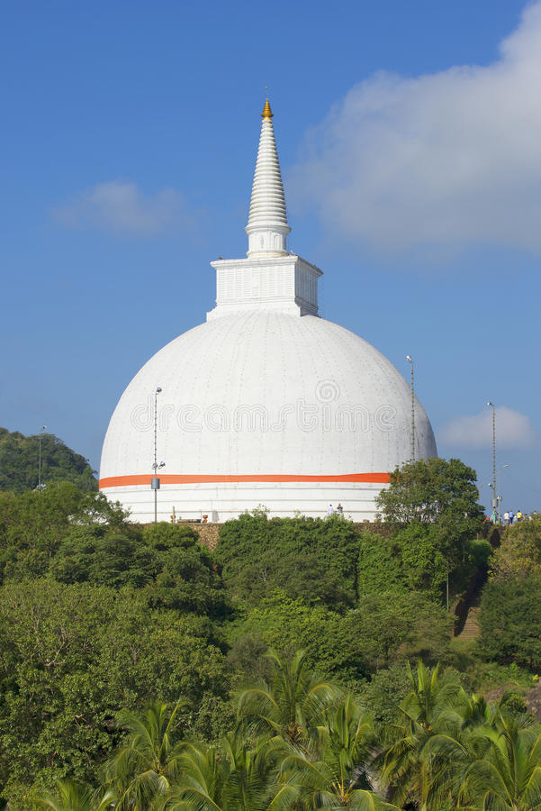 Dagoba in het klooster Mihintale, Sri Lanka stock afbeeldingen