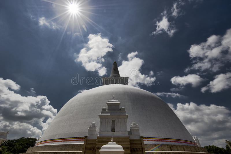 Dagoba in Pollonaruwa Sri Lanka royalty free stock images