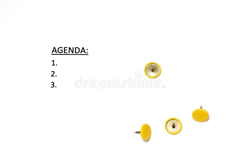 dagordning fotografering för bildbyråer